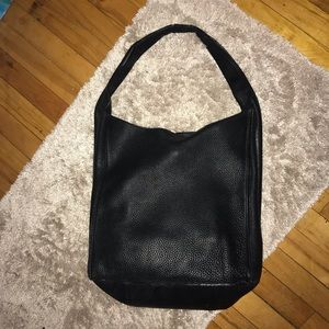 Auxiliary Leather Hobo Tote